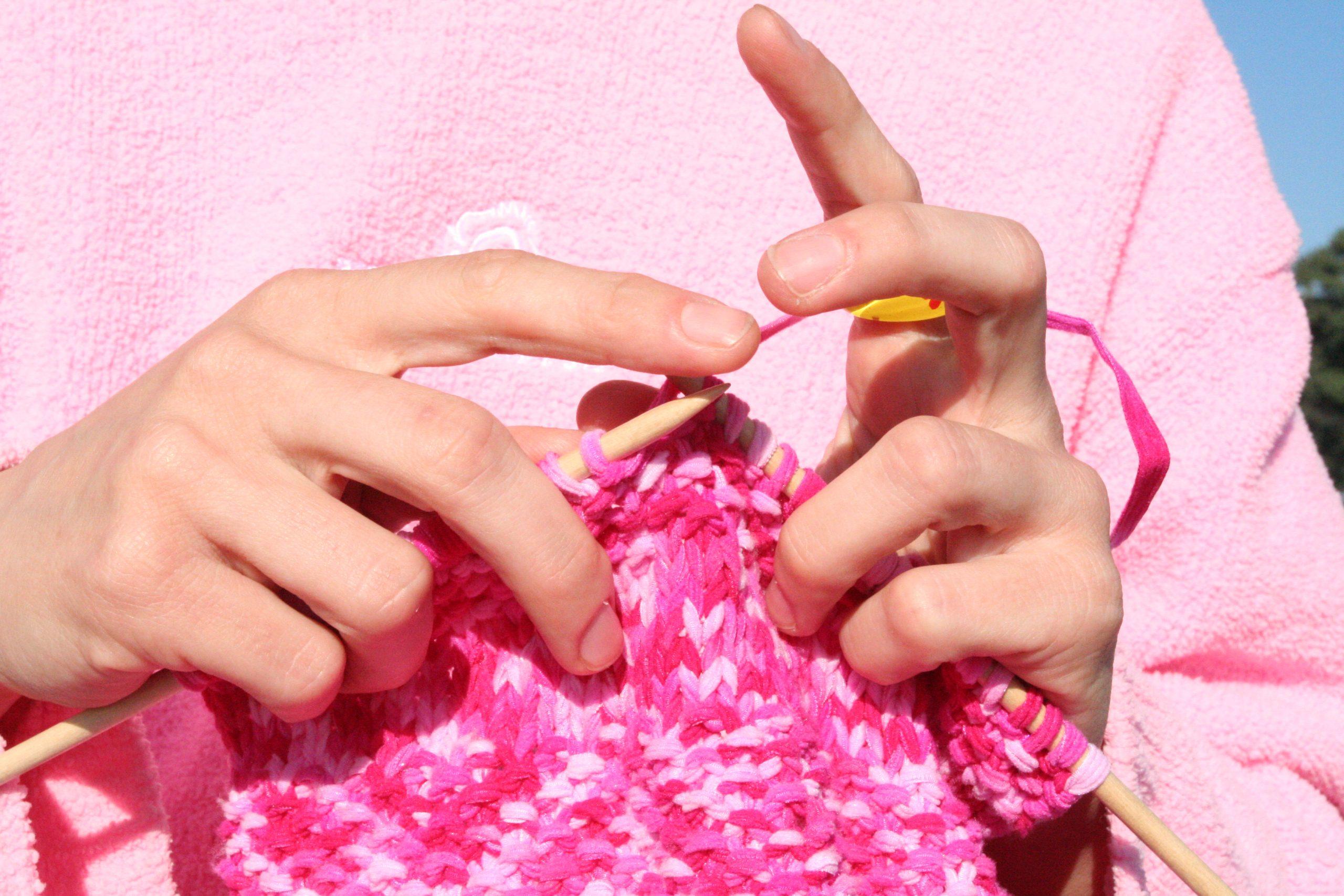 how to knit fair isle flat