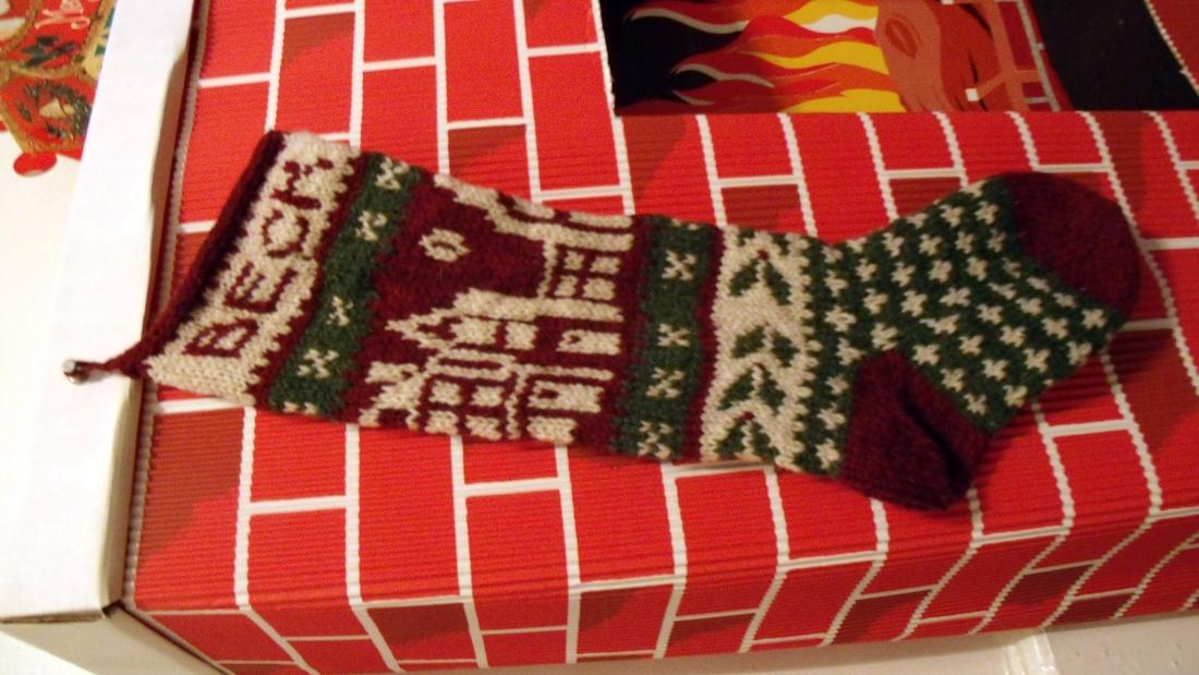 How to Stitch Name on Stocking