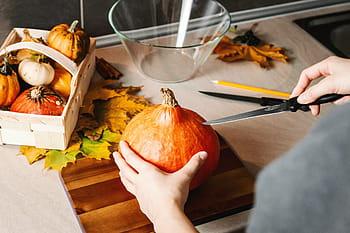 How to Carve a Fake Pumpkin -3