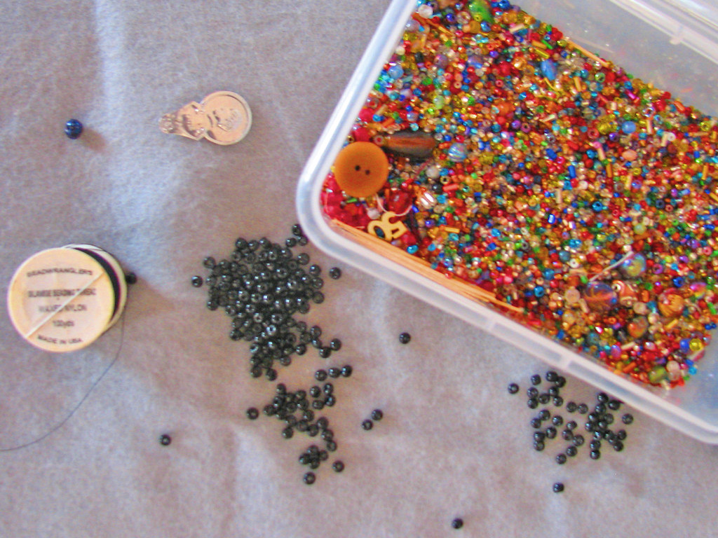 How to Use a Beading Needle
