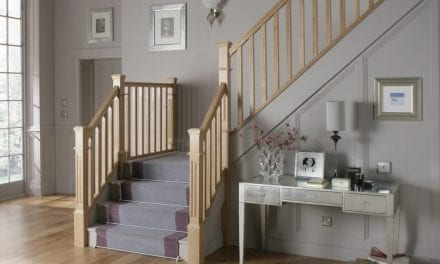 How to Put Dado Rails on Stairway Wall