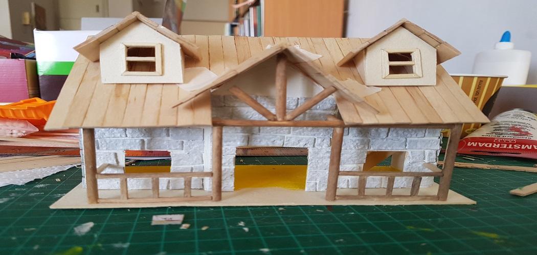 Acrylic Finish on Dollhouse