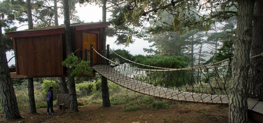 How to Make a Rope Bridge for a Treehouse -1