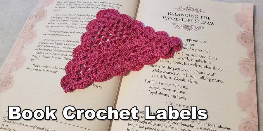 Book Crochet labels