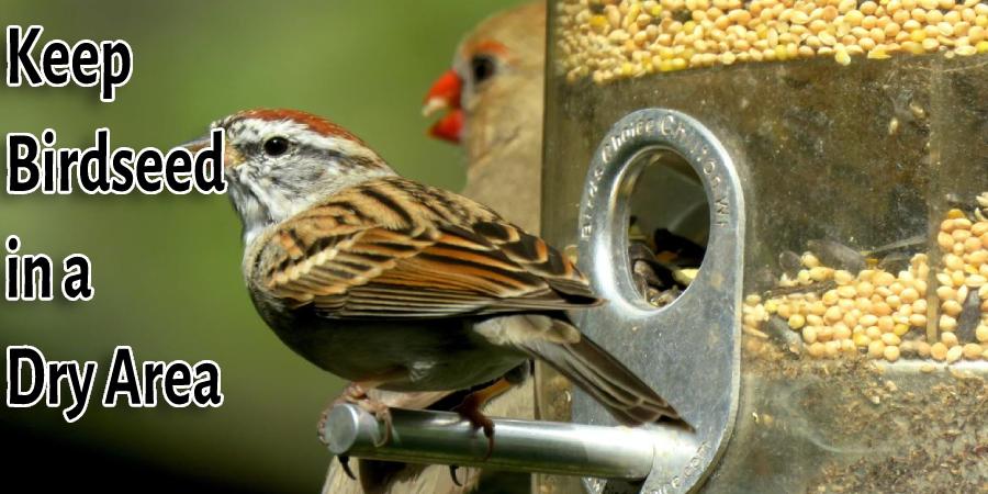 Keep Birdseed in a Dry Area