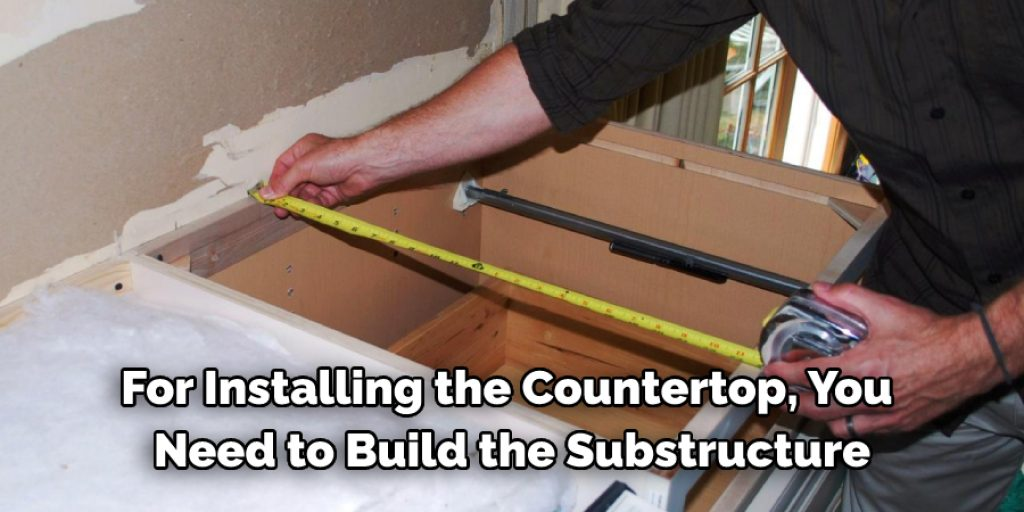 Procedure to Support a Countertop without Cabinets
