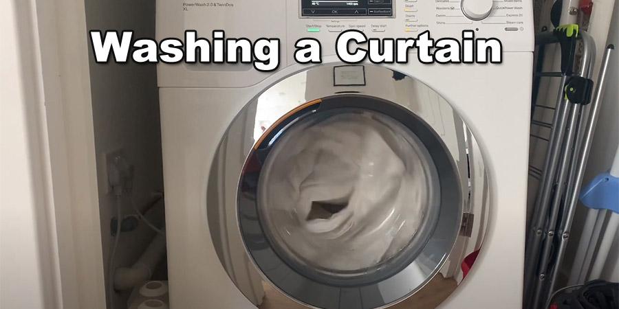 Washing a Curtain