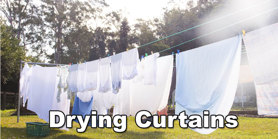 drying a curtain