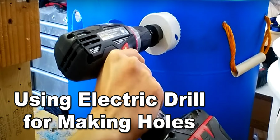 Using electric drill