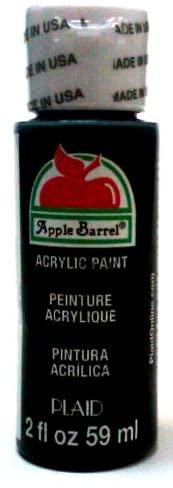 Apple Barrel Acrylic Paint in Assorted Colors (2 Ounce), 20504 Black