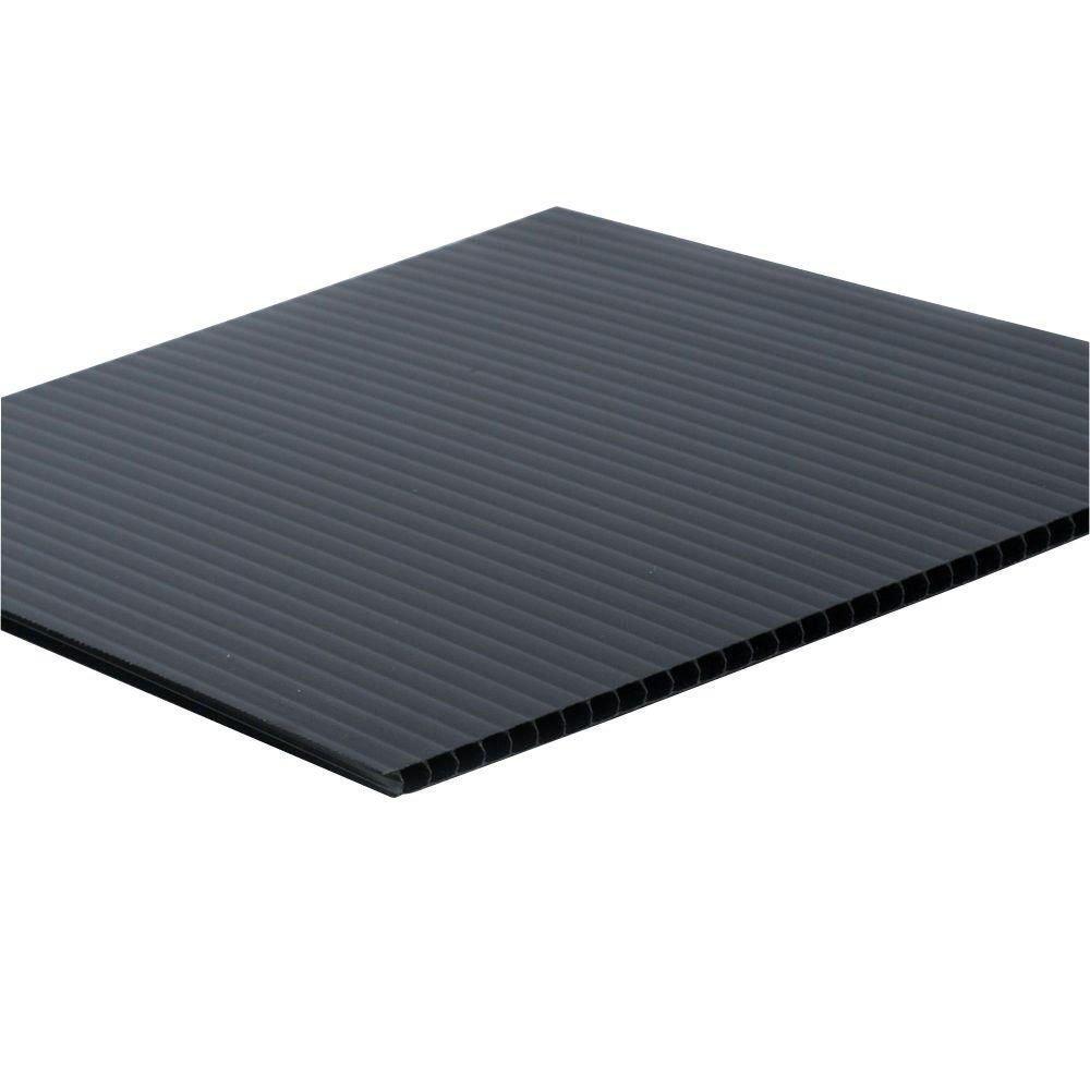 """Falken Design COR-BK-4MM/2436 Coroplast Sign Board, Corrugated Fluted Plastic Sheet 4mm (0.157""""), 24"""" x 36"""" - Black, Plastic"""