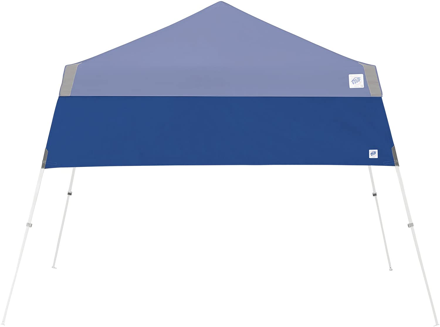 E-Z UP Recreational Half Wall, Fits Angled Leg 10' x 10' Canopy, Truss Clips and Storage Bag, Royal Blue
