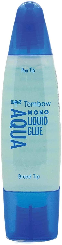 Tombow MONO Aqua Liquid Glue, Permanent Bond, 50 ml, Clear, Carded (62181)