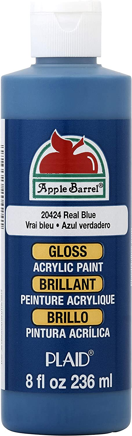 Apple Barrel Gloss Acrylic Paint in Assorted Colors (8 oz), 20424E Gloss Real Blue