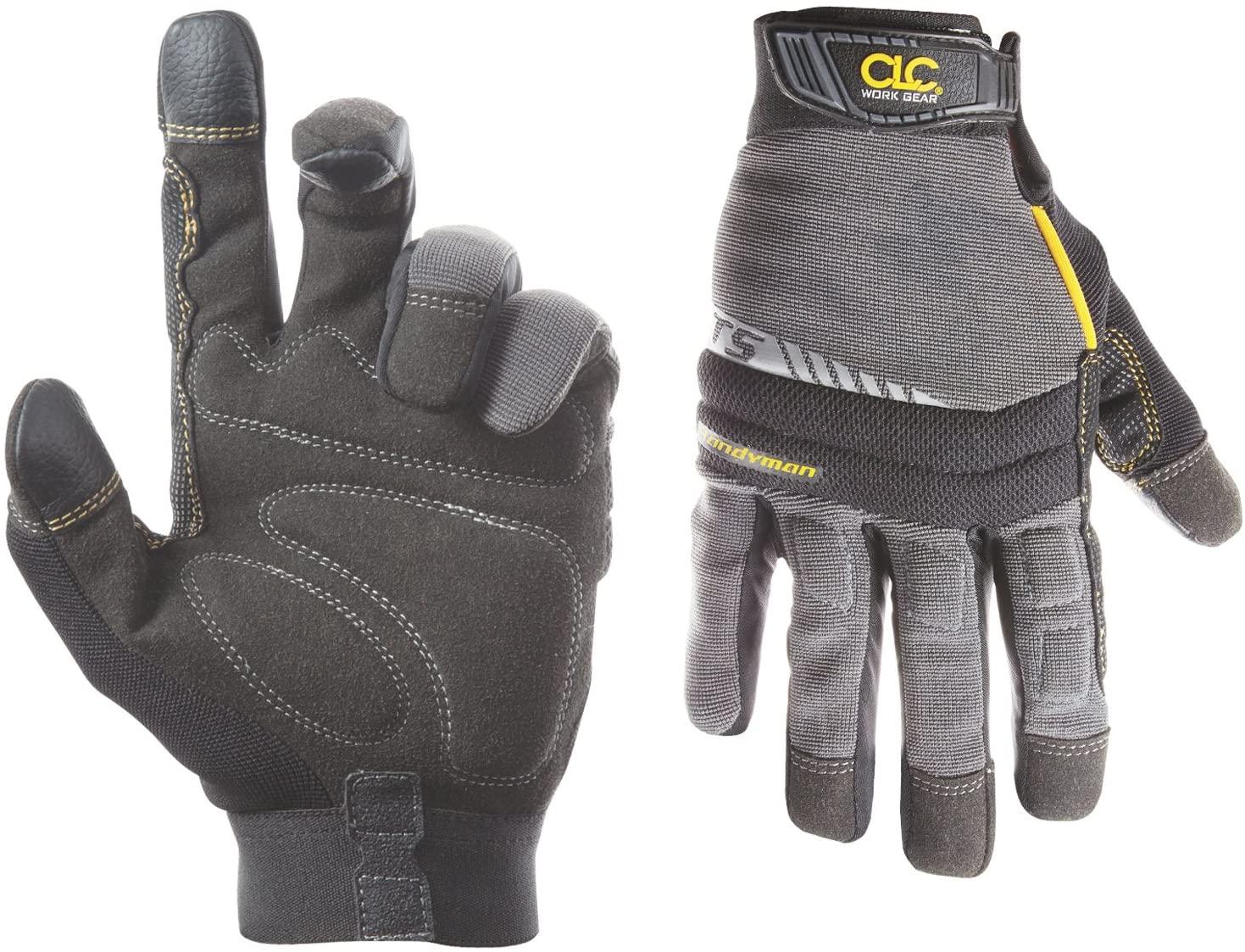 CLC Custom Leathercraft 125M Handyman Flex Grip Work Gloves, Shrink Resistant, Improved Dexterity, Tough, Stretchable, Excellent Grip,Medium