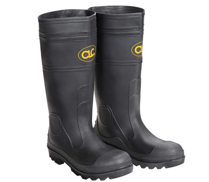 CLC Custom Leathercraft Rain Wear R23008 Over The Sock Black PVC Men's Rain Boot