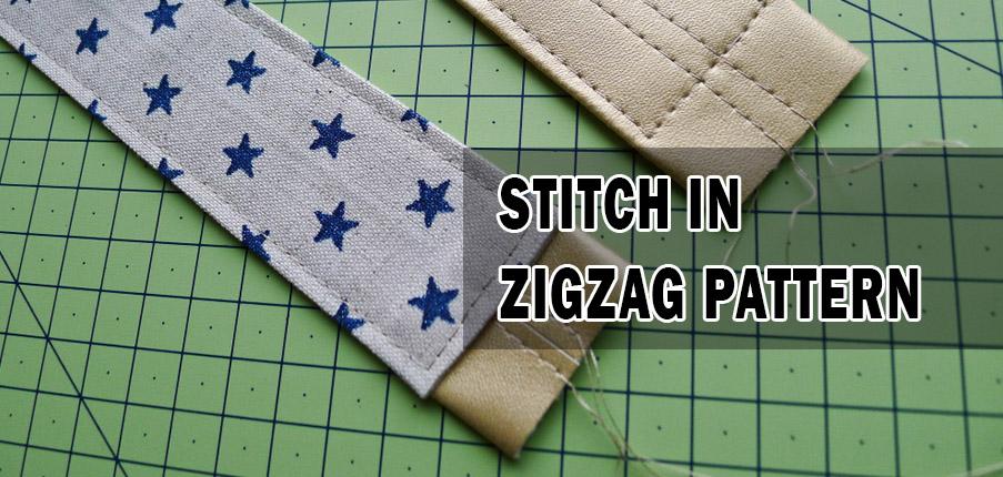 Stitch in Zigzag Pattern