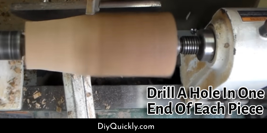 Drill A Hole In One End Of Each Piece