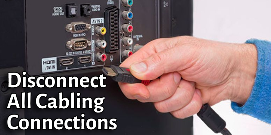 Disconnect All Cabling Connections