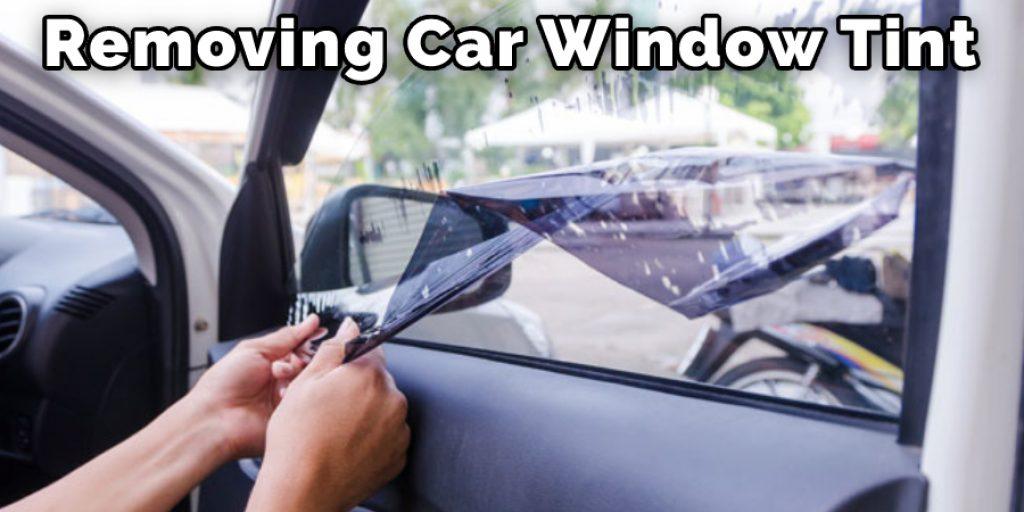 Removing Car Window Tint
