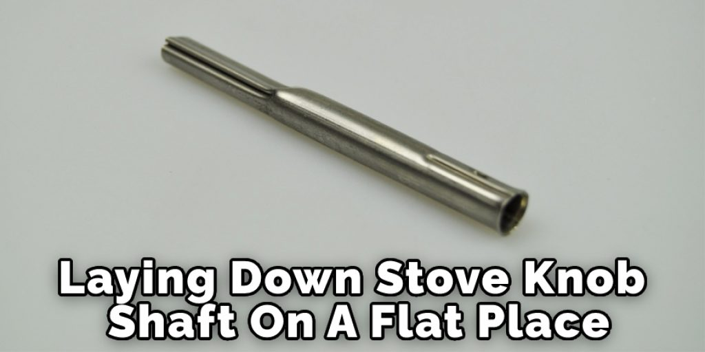 Laying Down Stove Knob On A Flat Place