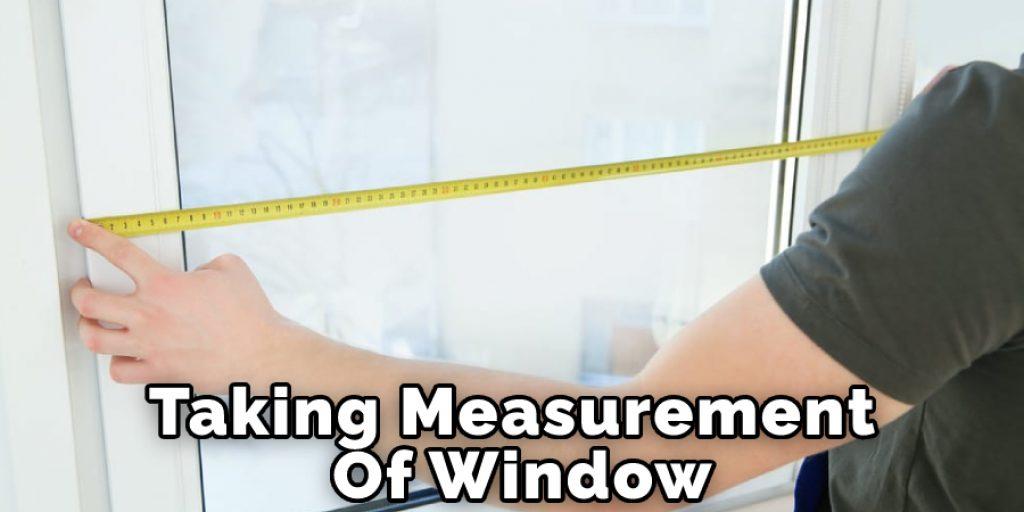 Taking Measurement Of Window