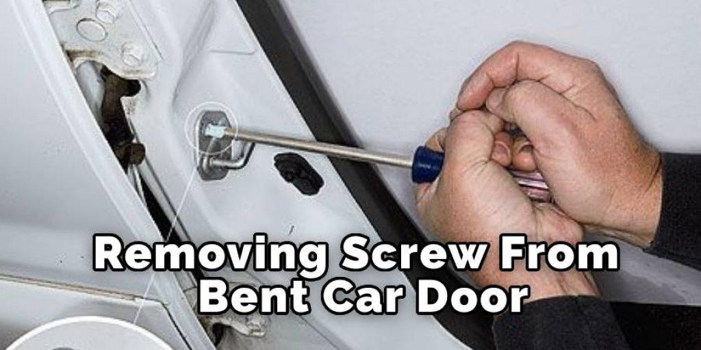 Removing Screw From Bent Car Door