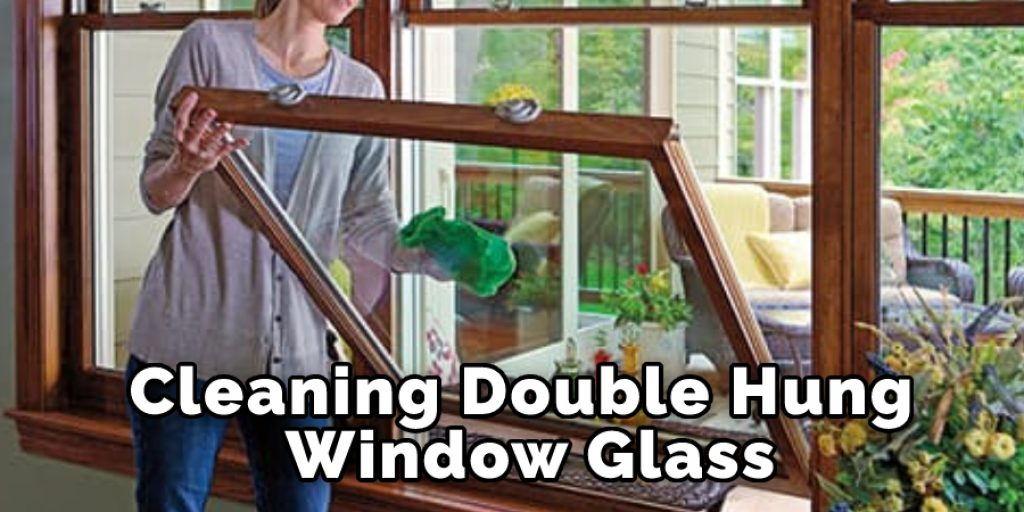 Cleaning Double Hung Window Glass