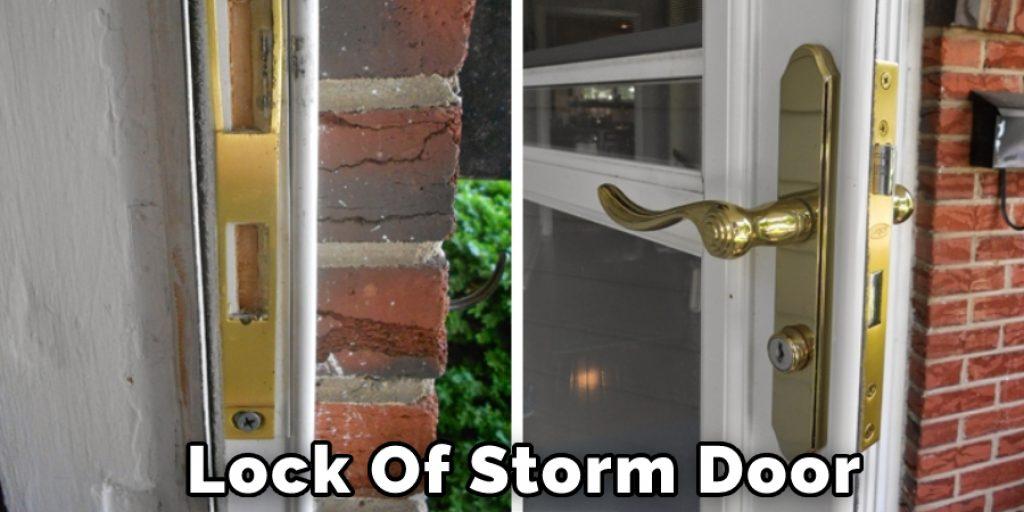 Lock Of Storm Door