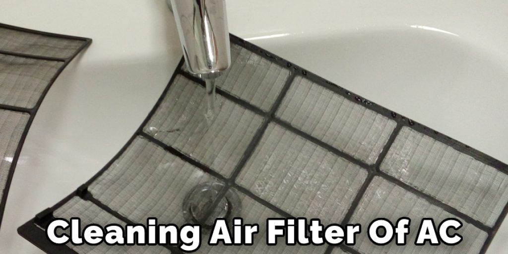 Cleaning Air Filter Of AC