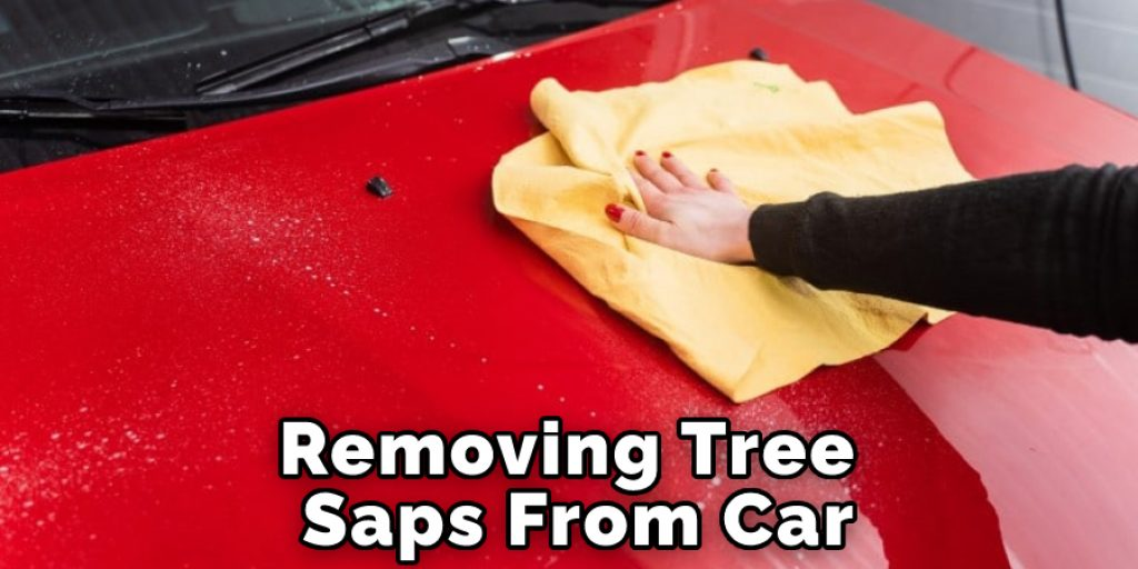 Removing Tree Saps From Car