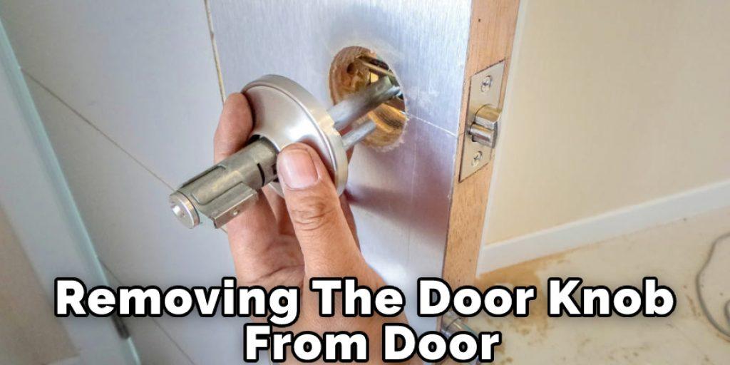 Removing The Door Knob From Door