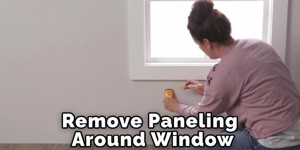 Remove Paneling Around Window