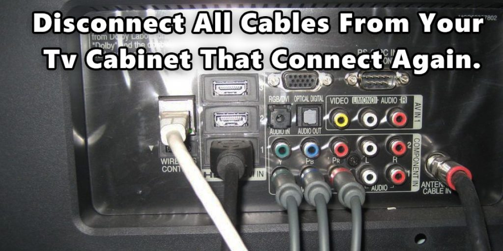 Disconnect all Cables from your TV