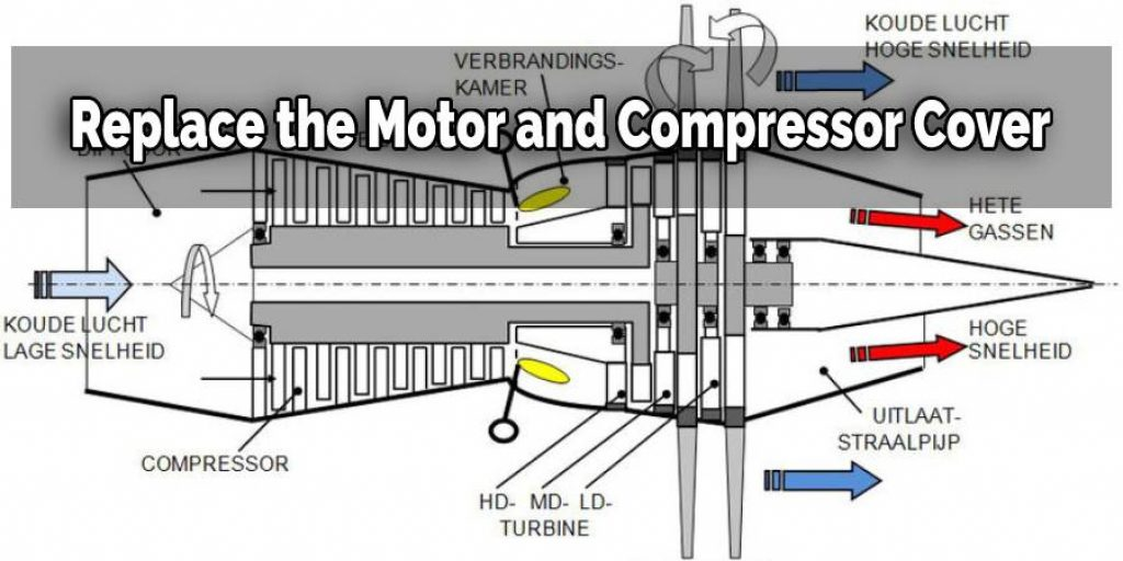 Replace the Motor and Compressor Cove
