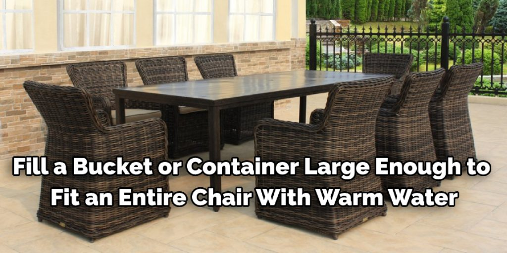 Stepwise Guide to Clean Rattan Chairs