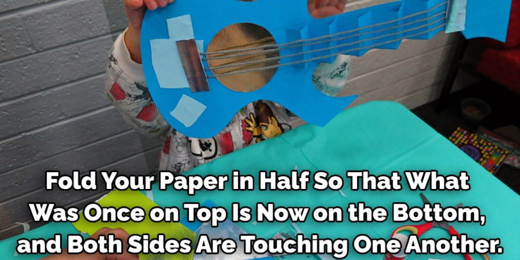 Directions of How to Make a Guitar Out of Paper