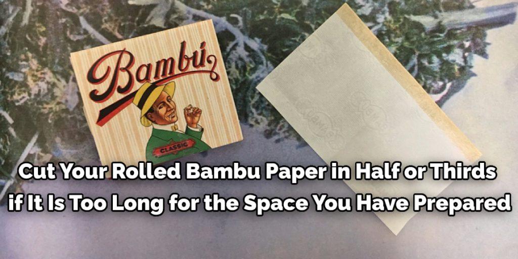 Rolling a Bambu Paper