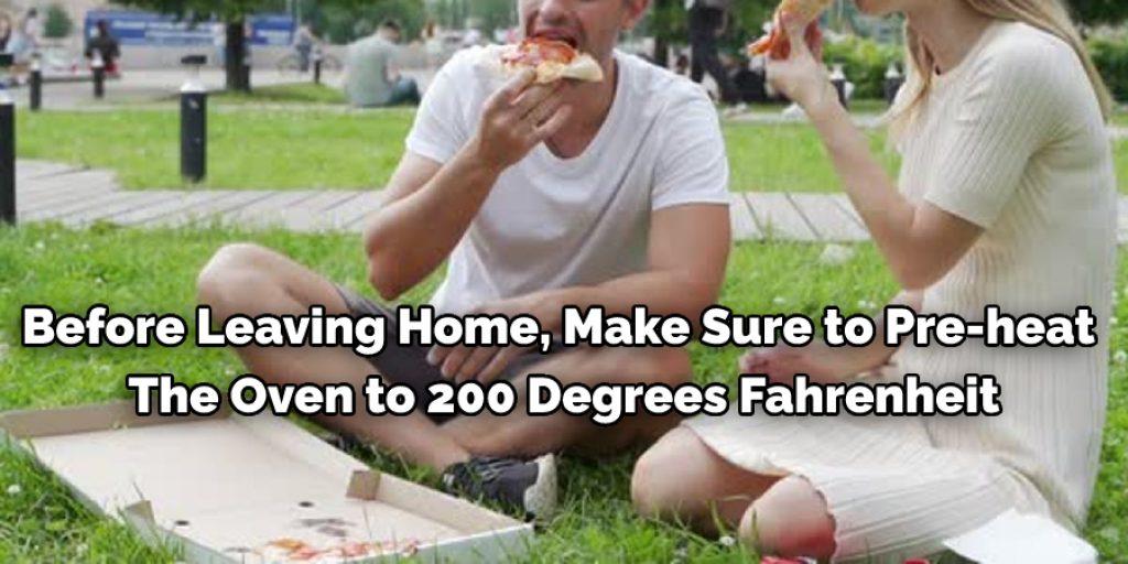 Keeping Pizza Warm at a Park