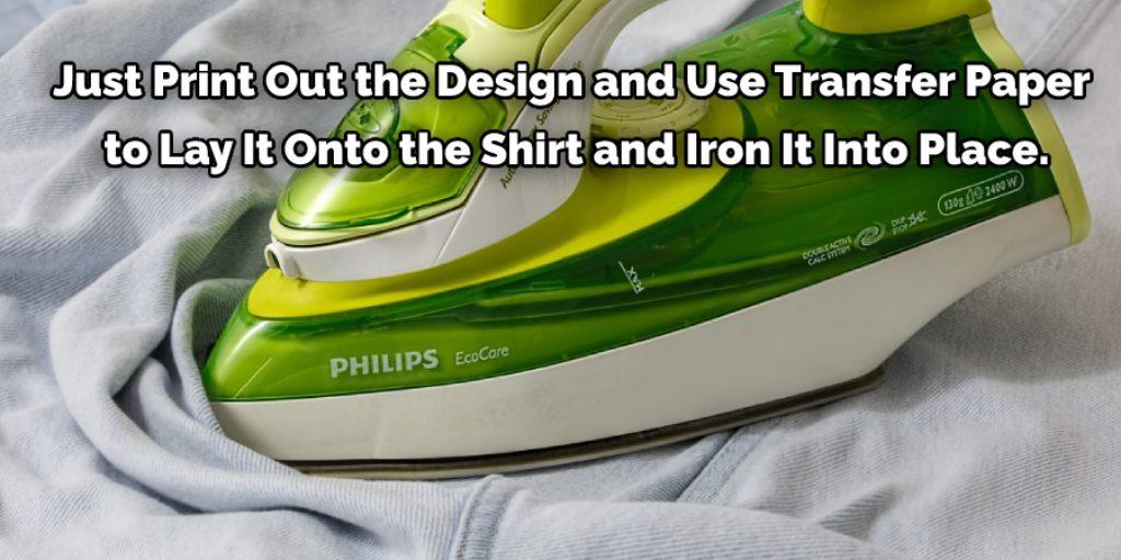 Print Using A T-shirt Transfer Paper