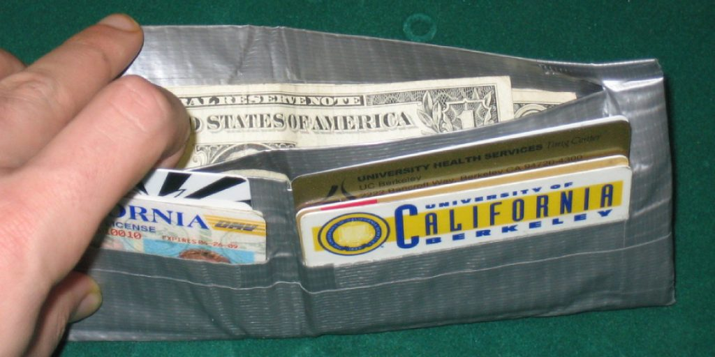 Make a Trifold Duct Tape Wallet