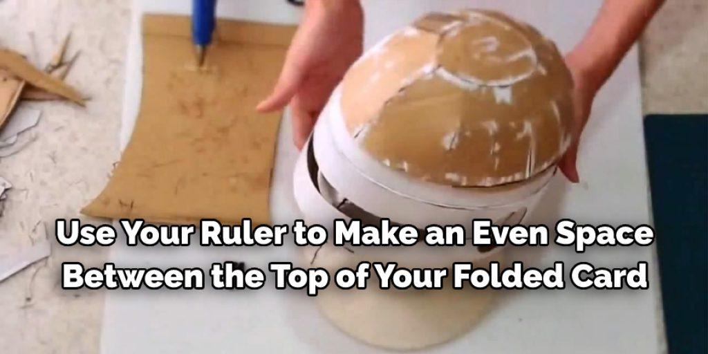 Use your ruler to make Greek Helmet