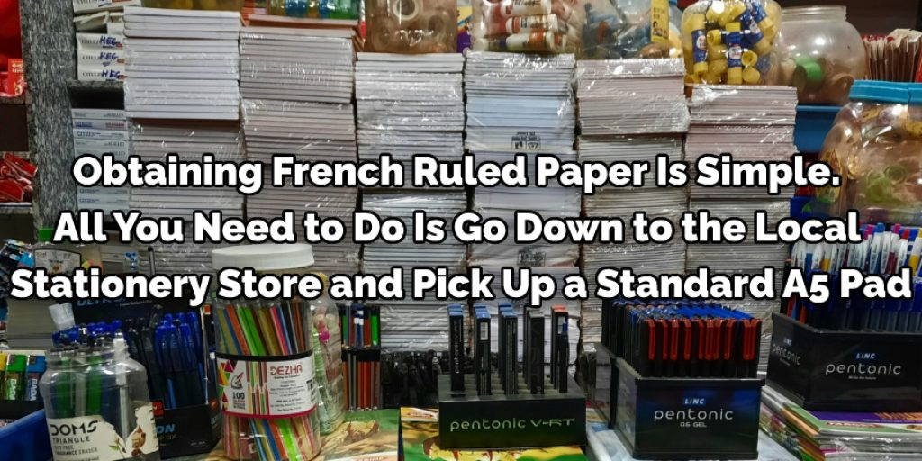 Obtaining French ruled paper