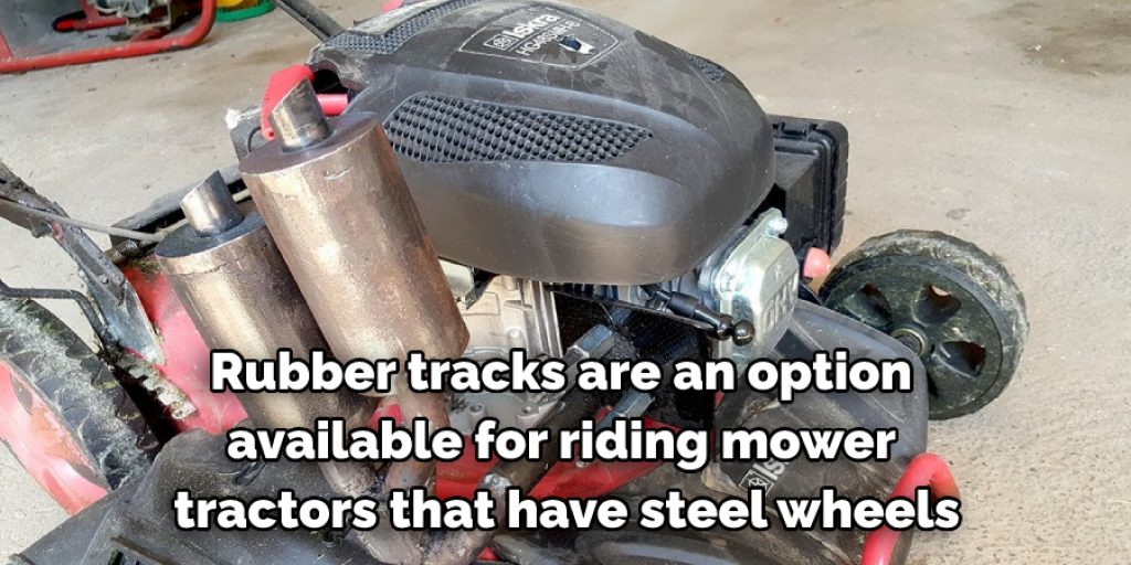 Using Rubber Tracks on Tractor Mowers