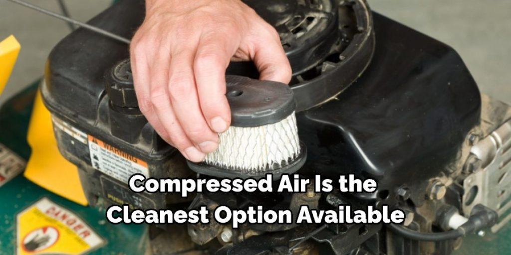 Using an Air Compressor to clean lawn