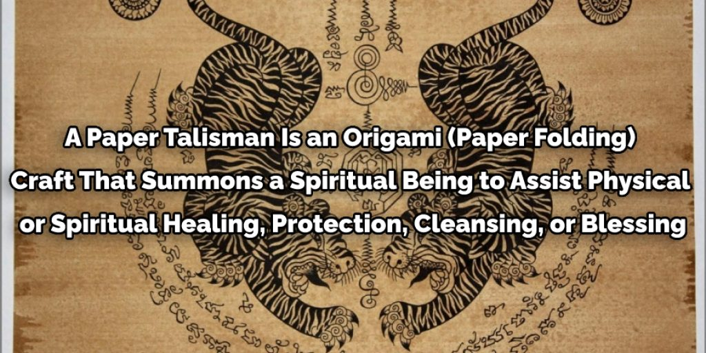 Paper talisman is an origami craft