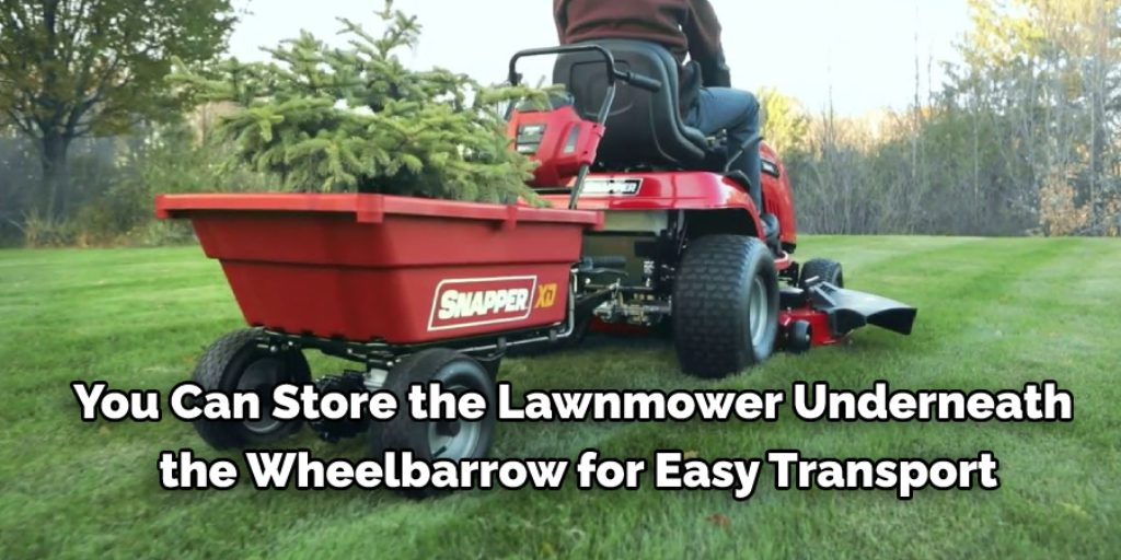 Wheelbarrow Lawn Mower Holder