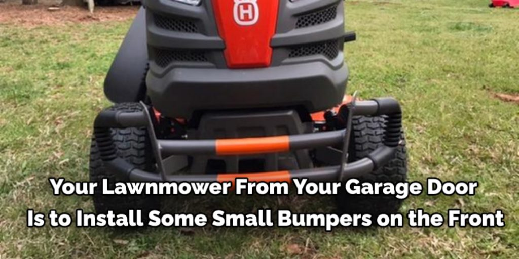 Install Bumpers in a lawn mower