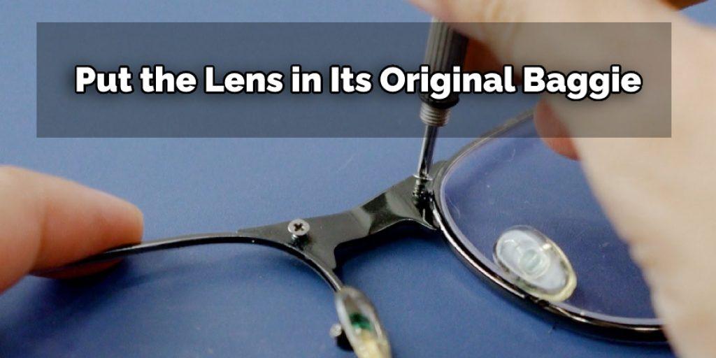 Steps To Pop Lenses Out Of Plastic Frames